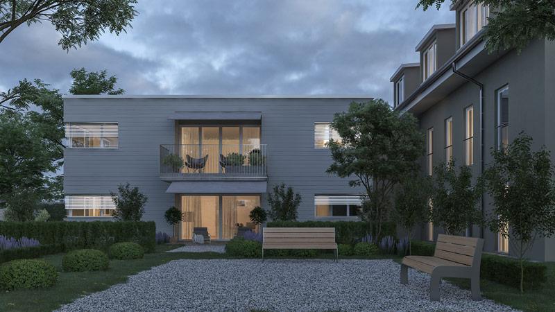 VisualsConcept 3D Immobilien Rendering Bellach-Aussenvisual